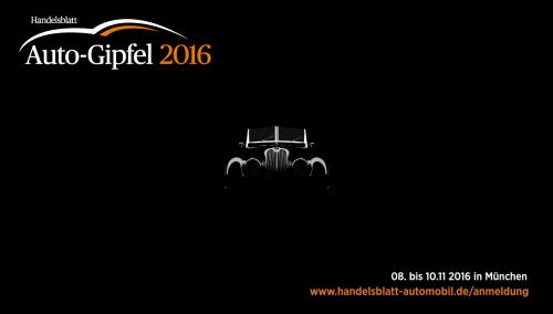 Handelsblatt Autogipfel 2016